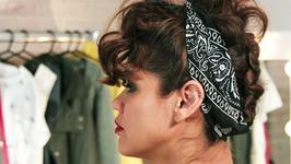 How to Do a Curly Updo Inspired By Rihanna