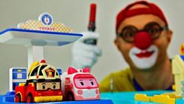 Toy Car Clown - Robocar Poli Magical Mystery Tour
