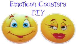 DIY Emoticon Coasters -Another Coaster Friday Craft Klatch Emoji