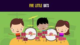 5 Little Bats Song for Kids - Halloween Songs for Children