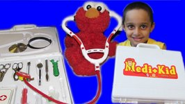 TOYS FOR CHILDREN - DOCTOR's KIT Medical Bag Playset with Elmo Baby Playtime by JeannetChannel