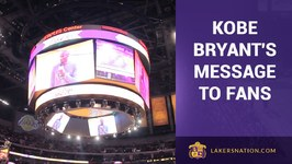 Kobe Bryants Message To Lakers Fans Before Opening Night