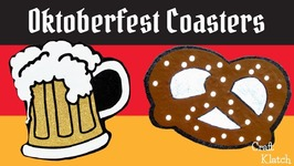Oktoberfest Craft Beer and Pretzel Coasters  DIY  Another Coaster Friday