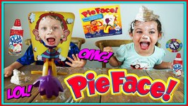 Pie Face Game Challenge Toy Box Magic With Pierce's World Collaboration Video