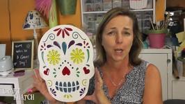 Sugar Skull Decoration!  Resin Craft  Halloween DIY  Craft Klatch