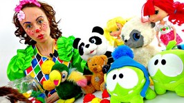 Funny Clown Videos. Mary Clown And Toys In A Movie. Video For Kids