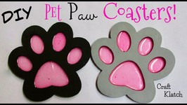 Pet Paw Coasters DIY  Another Coaster Friday  Craft Klatch