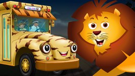 Wheels On The Bus  Kenya Jungle Book Wildlife Safari  Wild Animals and Animal Sounds  ChuChu TV