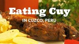 Cuy - Eating Guinea Pig in Cusco, Peru
