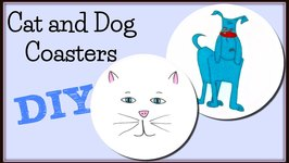 Cat and Dog Coasters DIY- Another Coaster Friday Craft Klatch