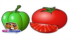 The Vegetable Song - Kids Learn Vegetable Names - Teach Nursery Children Veggie Song