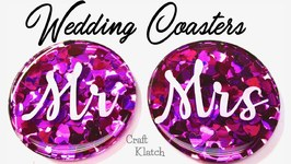 Wedding Confetti Coasters DIY  Another Coaster Friday  Craft Klatch