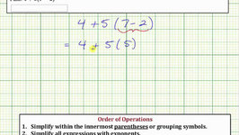 Evaluate an Expression Using the Order of Operations: ab(c-d)