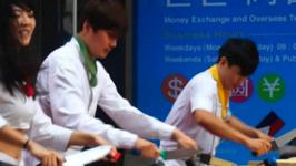 Nanta Musical Cookin Kitchen Knives Performance in Myeongdong  - Seoul, Korea