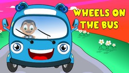 The Wheels On The Bus Go Round and Round  High Quality English Rhymes Series
