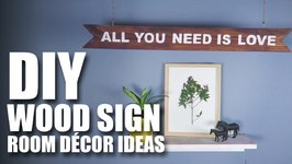 Mad Stuff With Rob - DIY Wood Sign  Room Decor Ideas