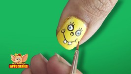 Nail Art - Sponge Bob