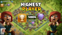 Clash Of Clans First Player At 5000 Trophies Legends League- Highest Player In COC History- Proof