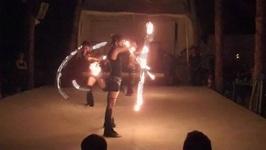 Fire Dancers In Playa del Carmen