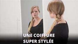 Tuto coiffure : la queue de cheval noue sur le ct