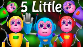 Five Little Monkeys Jumping On The Bed  Part 2 - The Robot Monkeys  ChuChu TV Kids Songs