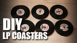 Mad Stuff With Rob - How To Make LP Coasters- DIY Craft