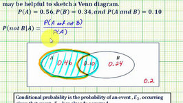 Ex 3: Determine a Conditional Probability Using a Venn Diagram - P(not BA)