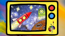 Learn To Draw A Space Rocket English For Kids