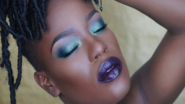 Green Smoky Purple Lipstick Destiny Godley