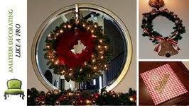 My Last Minute Dollar Tree Christmas Decor - DIY Wreath, Scounces & More