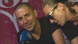 Dimitri Vegas and Like Mike backstage at Tomorrowland