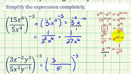 Ex 2: Simplify an Exponential Expression with Negative Exponents