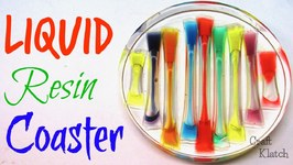 Liquid Rainbow Resin Coaster DIY  Another Coaster Friday  Craft Klatch