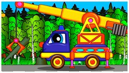 Truck Transformer - Helpy BIG CRANE - Cartoon Magic For Kids