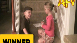Adorable Kid Just Wants to Be a Package Delivery Man