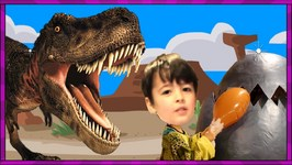 Feeding A Giant Dinosaur Egg  In Real Life Dinosaurs  T Rex Egg Is Hungry Kids Funny Videos