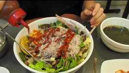 Vegetarian Korean Food (Bibimbap) - Healthy Korean Mixed Rice in Seoul, Korea