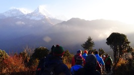 Trekking to Annapurna For The Sunrise