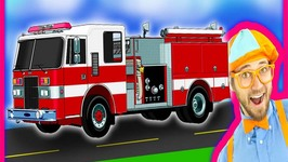 Fire Trucks for Children  Fire Engines for Kids and Fire Truck Tour with Blippi