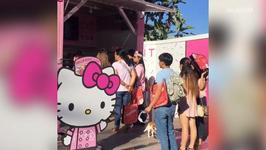 America's First Hello Kitty Cafe Opens to Lines Around the Block