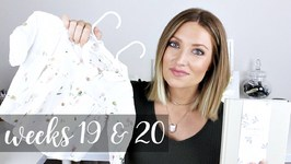 Twin Pregnancy Vlog Weeks 19 and 20 - Baby Clothes, Journals, Kicks