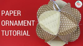 Christmas Crafts - Paper Ball Ornaments - Easy Paper Craft Tutorial- Triangle in Circle Pieces