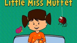 Little Miss Muffet - Nursery Rhymes - Animated Songs for Children