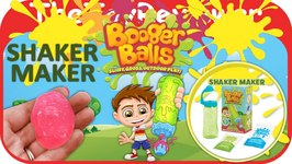 Booger Balls Shaker Maker Pink Slimy Gross Outdoor Play Unboxing Toy Review by TheToyReviewer