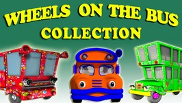 Wheels on the Bus Collection  Red Bus Song  Blue Bus Song  Green Bus Song  Orange Bus Song
