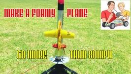 Foamy Plane Goes Over 138 kph