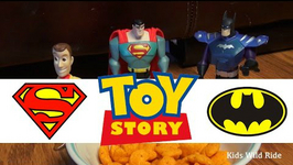 Toys Vs Humans - Snack Attack - Woody Toy Story 4 Parody Superman Batman Toys Toy Story Toys