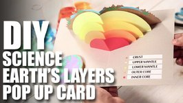 Mad Stuff With Rob - How To Make A DIY Earth's Layers Pop Up Card  DIY Science Projects