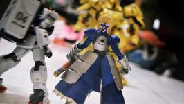Gundam and Figma Stop Motion : Saber Lily FATE??