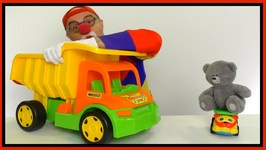 Videos For Kids - Car Clown Massive Lego Truck And Teddy Bear Truck (Children's Toy Trucks)